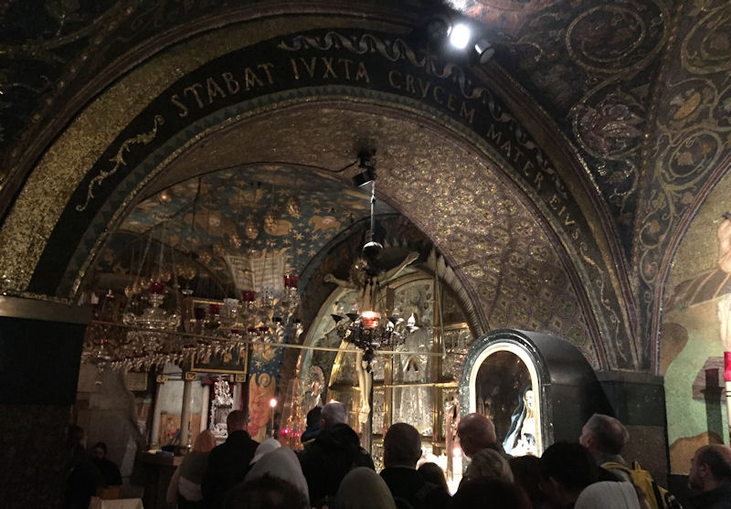 Waiting In Line at the Chapel of Calvary in the Church of the Holy Sepulchre